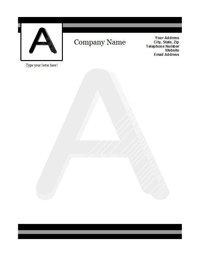 Letterhead Template 39 A Pinterest Letterhead template and