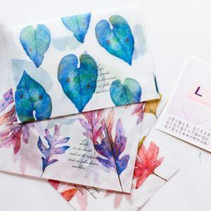 Watercolor envelopes