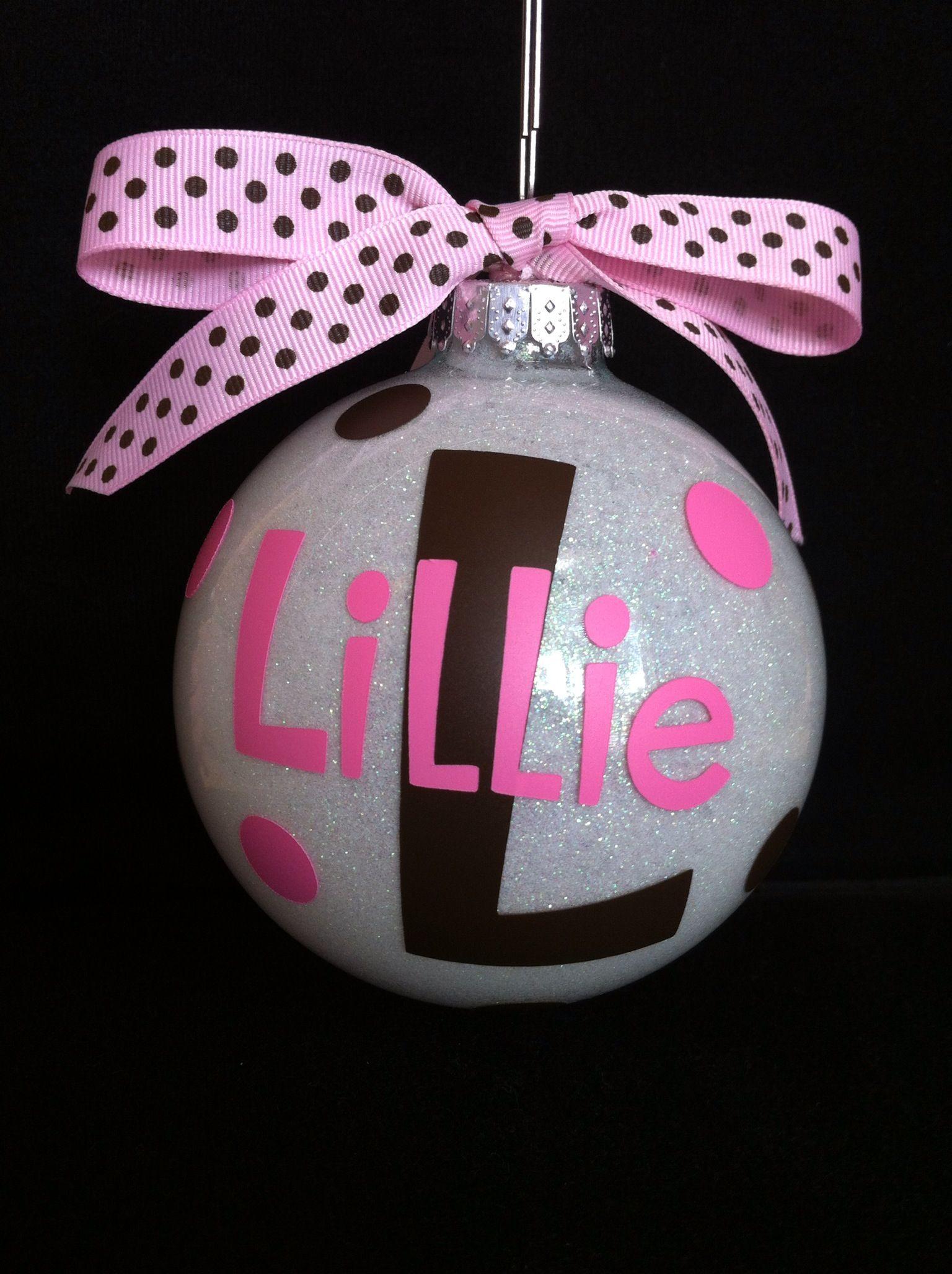 Handmade glitter and vinyl Christmas ornament. Got the
