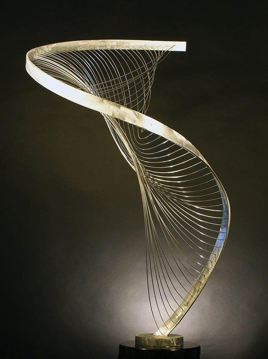 Great Double Harp   Metal Sculpture   Table Top Sculpture