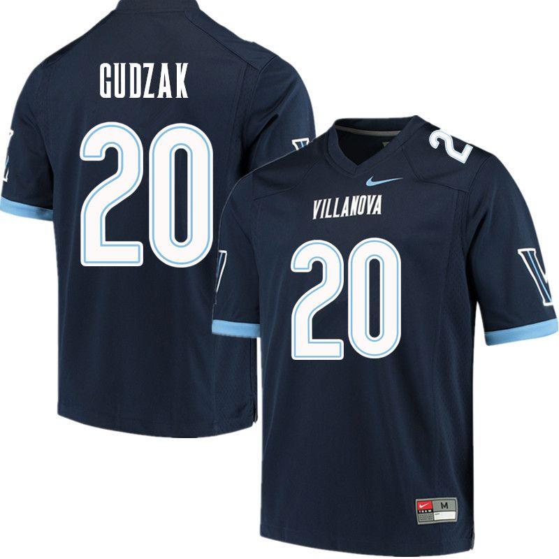 1b7ea4b9e17 Men  20 Matt Gudzak Villanova Wildcats College Football Jerseys Sale-Navy