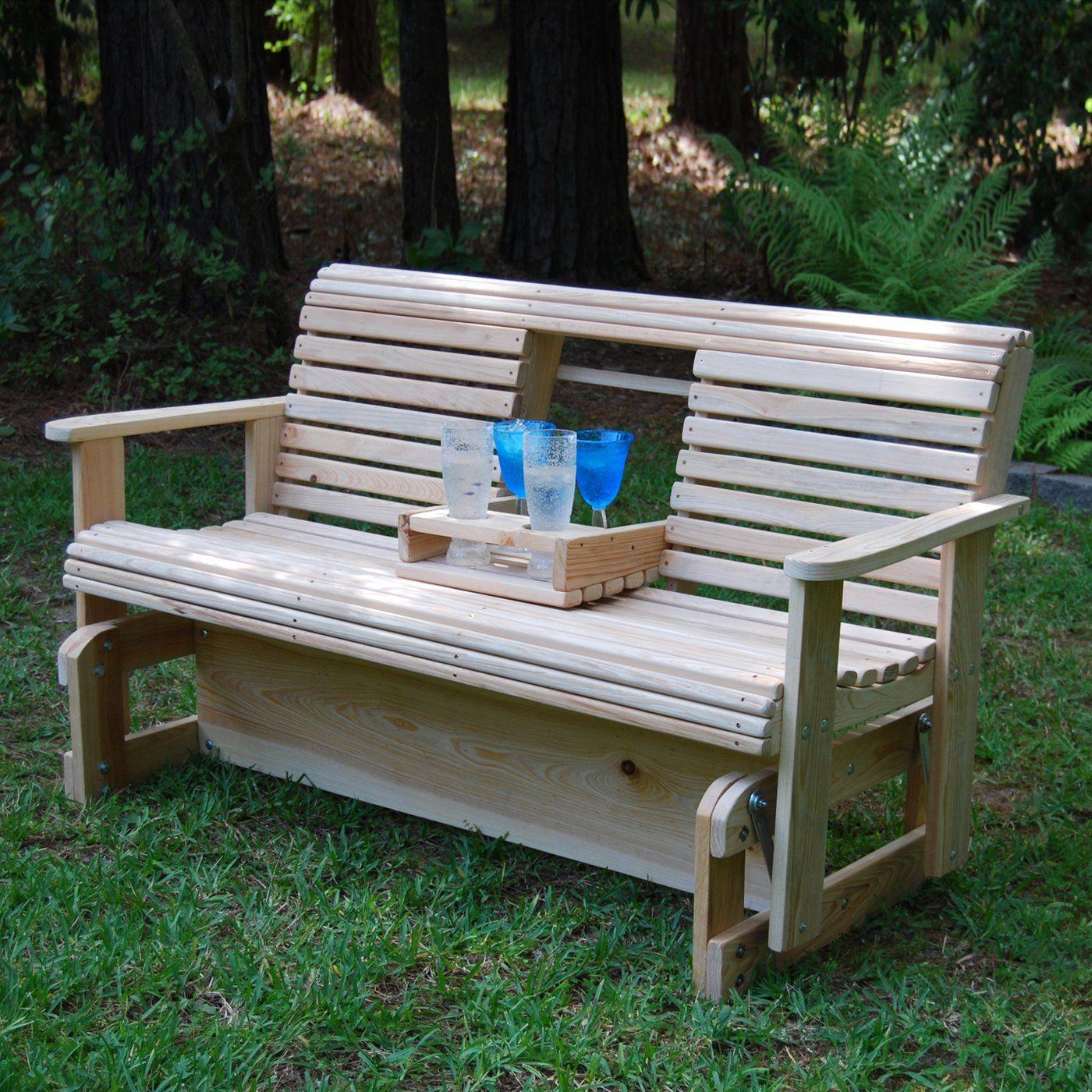 La Cypress Swings Cgf5 Flip Cup Holder Glider Bench Outdoor Glider Porch Swing Porch Glider