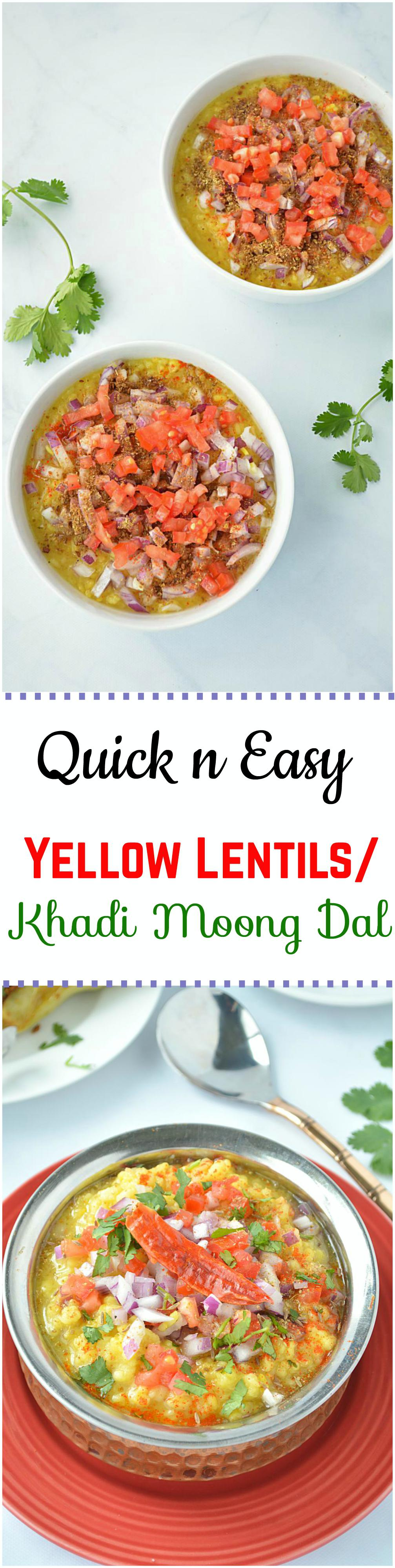 Quick and easy yellow lentils recipe topped with chopped onions,tomatoes & spices. It will leave your taste buds asking for more.