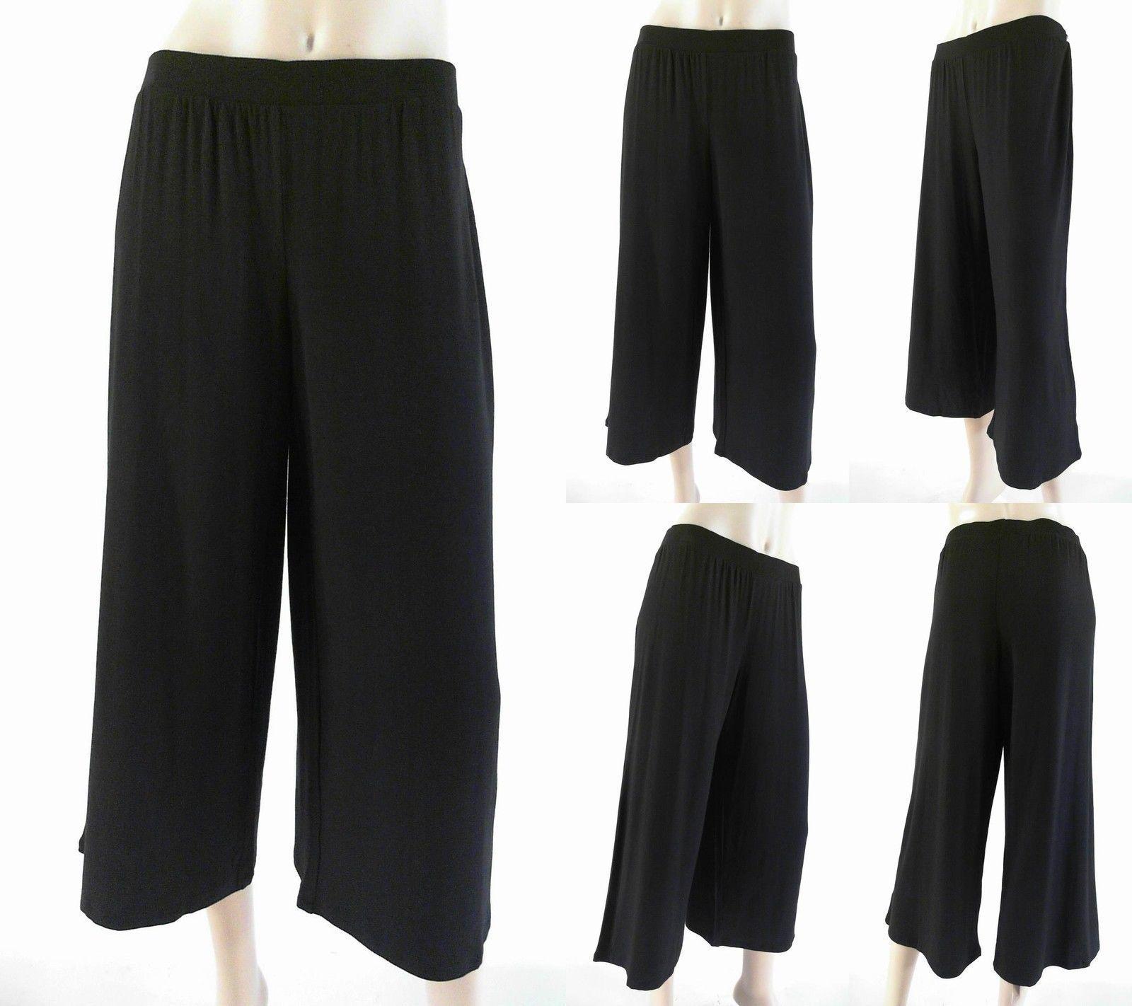 Gilligan /& O/'Malley Relaxed Palazzo Bermuda Womens size L Capri Pants PJ Bottoms
