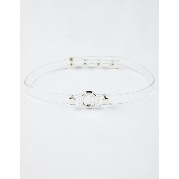 Full Tilt Clear Circle Choker ($5.99) ❤ liked on Polyvore featuring jewelry, necklaces, circle jewelry, plastic choker, full tilt jewelry, clear necklace and clear jewelry