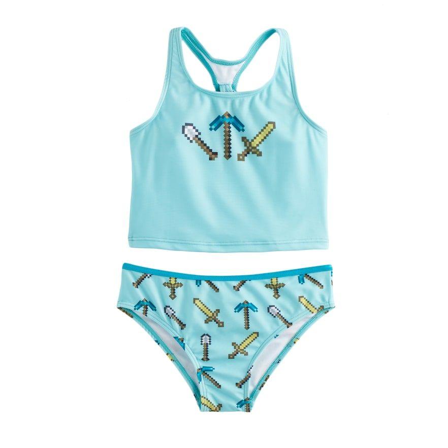 Bikini Swimsuit NWT JUSTICE Girl/'s 10 Gingham Ruffle 2-Pc