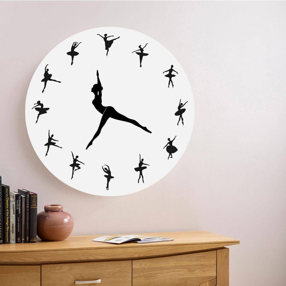 Ballerina Dancing Wall Clock Wall Clock Clock Diy Clock Wall
