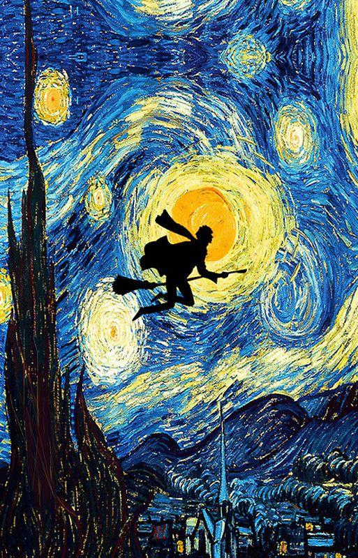 Harry Potter Van Gogh Starry Night Art Painting Print