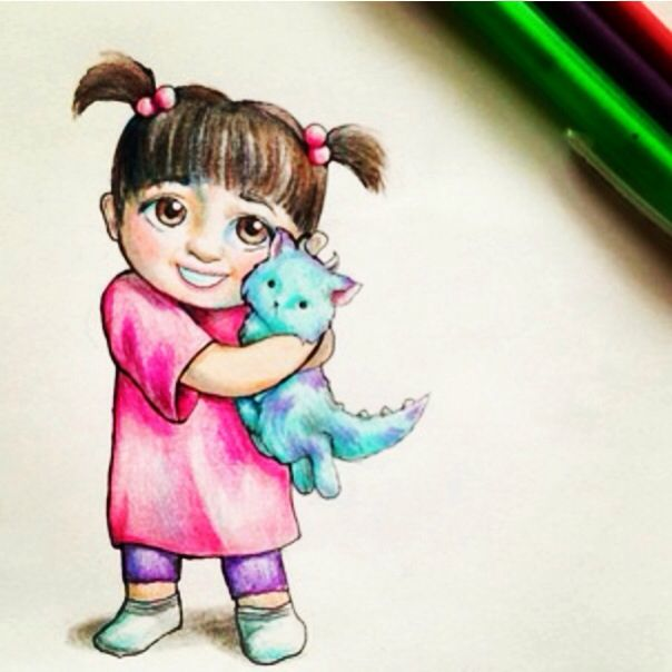 A Drawing Of Boo From Monsters Ink Monsters Ink Sully And Boo Sully Monsters Inc