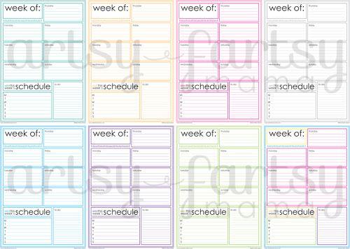 Free Printable Weekly Planner Weekly planner, Free printable and - free printable weekly planner