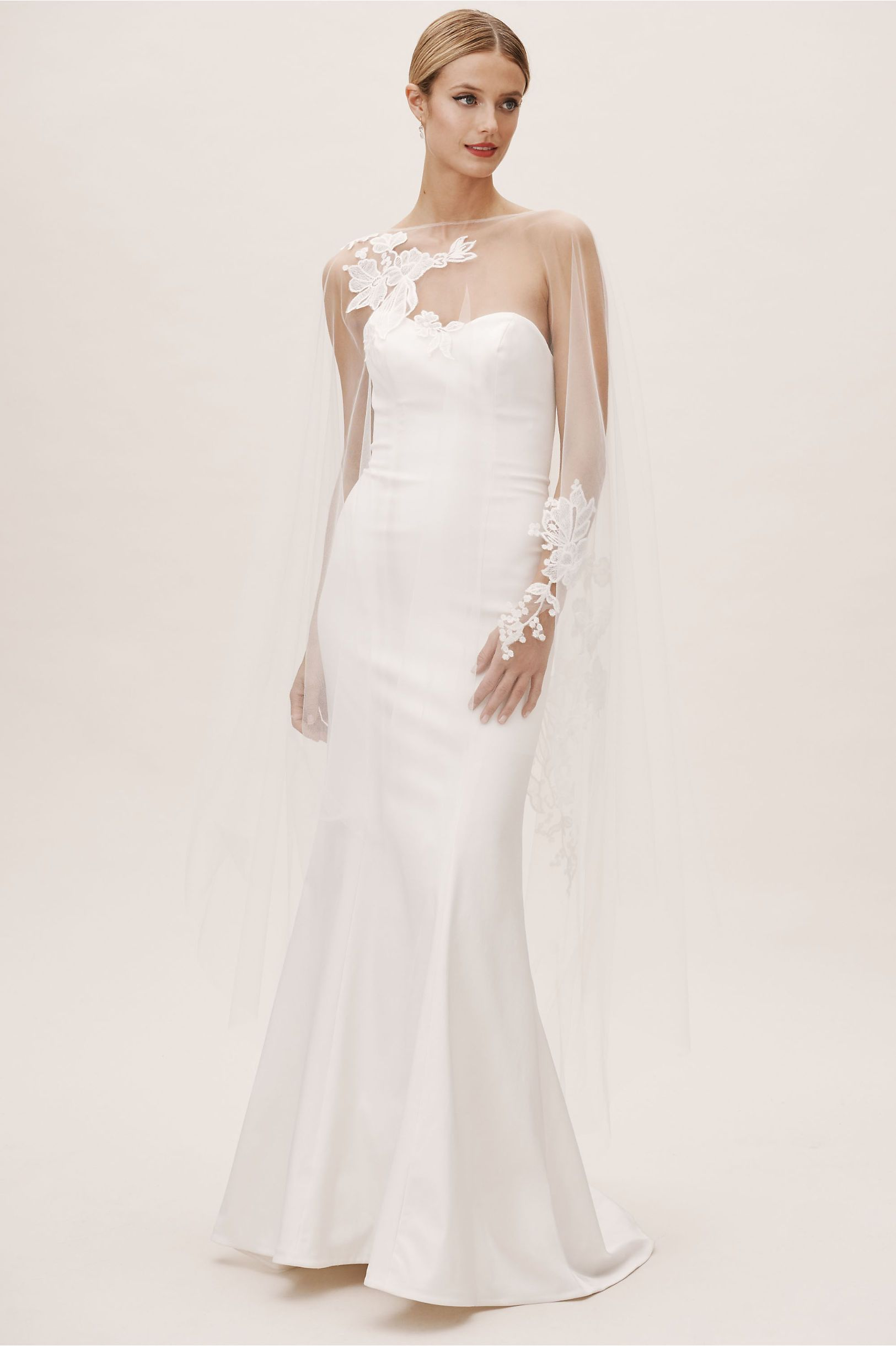 Amsale Inaya Cape Making A Wedding Dress Classic Wedding Dress