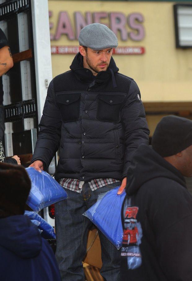 c4e1b4b86 Justin Timberlake wearing a Moncler Down Quilted Jacket.