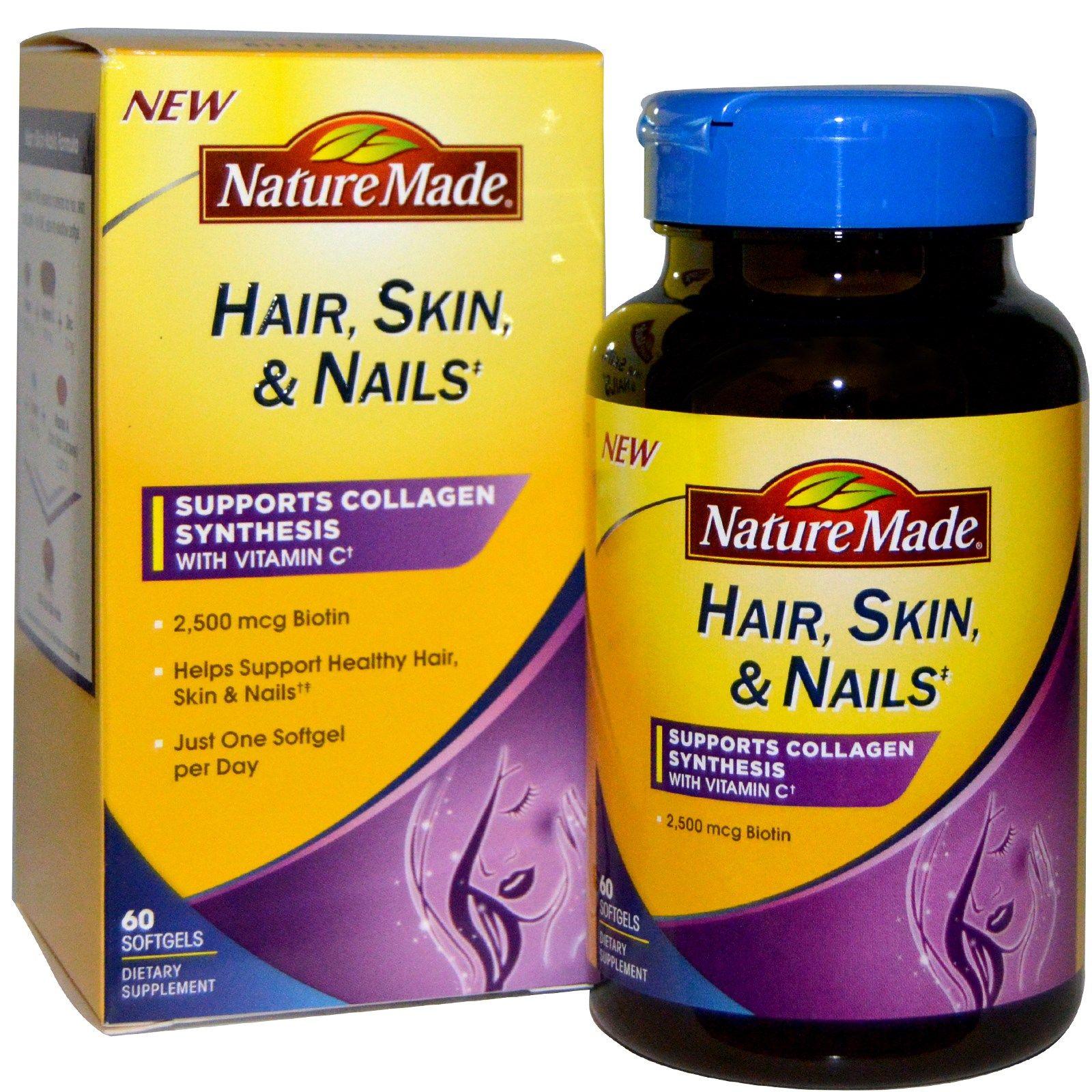 Nature Made Hair Skin Nails 60 Softgels Hair Skin Nails How To Make Hair Nature Made Vitamins
