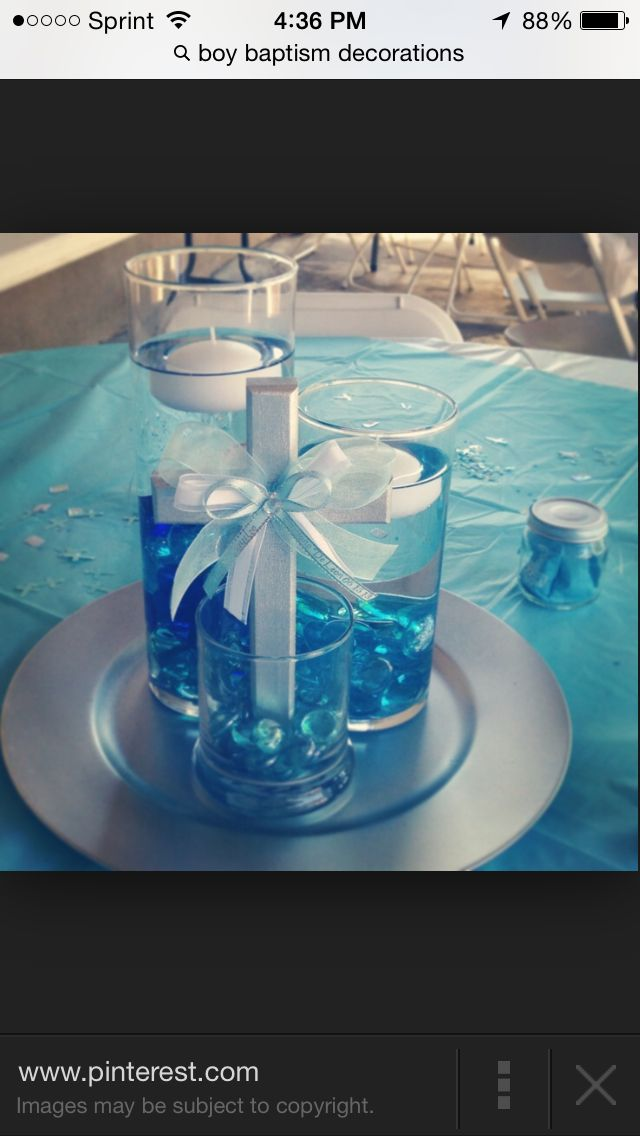 Center Table Decoration Boy Baptism Centerpieces Baptism