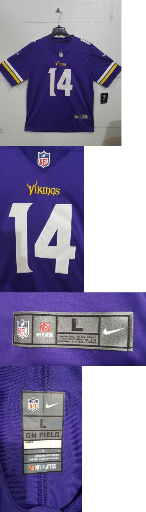 1005c1856 Clothing 21218  Minnesota Vikings Stefon Diggs No. 14 Home Purple Game  Jersey Large -  BUY IT NOW ONLY   29.95 on eBay!