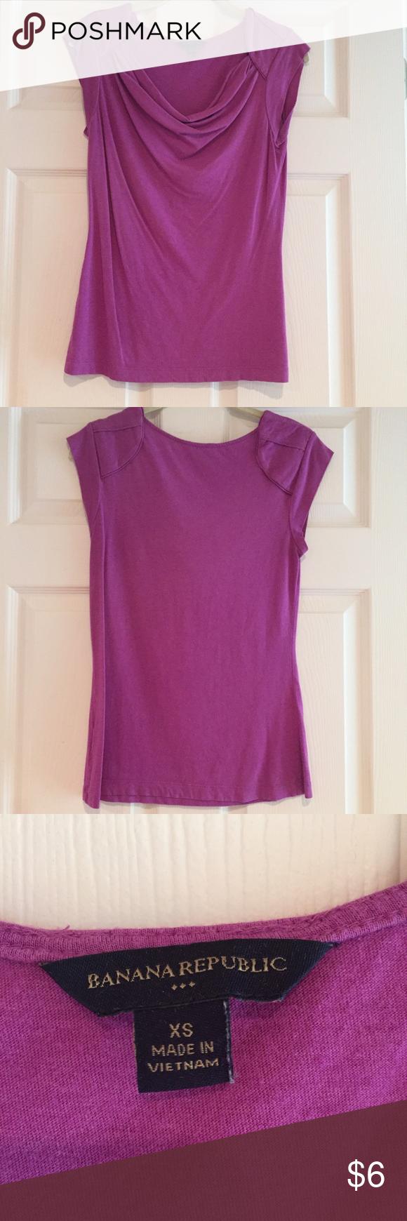 Banana Republic Short Sleeve Shirt Purple boat neck short sleeve shirt Banana Republic Tops Tees - Short Sleeve