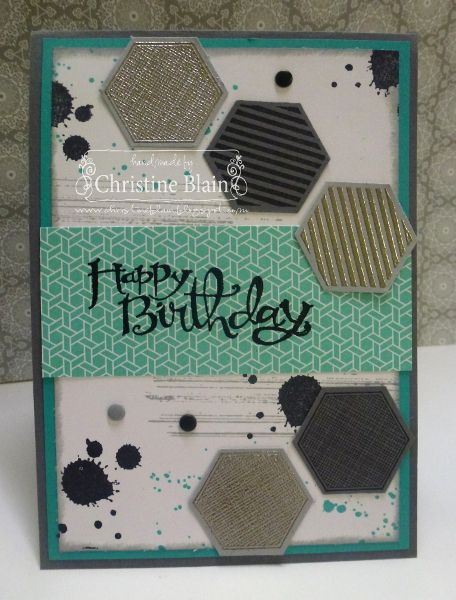 Stampin' Up! Six-Sided Sampler and Gorgeous Grunge, for Just Add Ink #176 challenge.