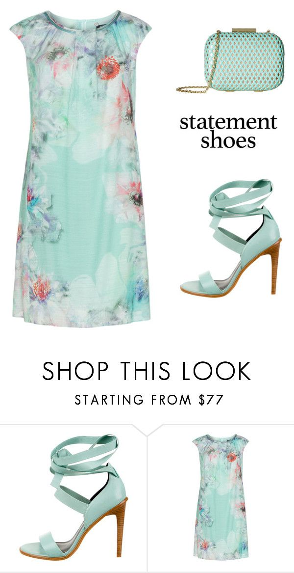 """""""Statement Shoes"""" by belladonnasjoy ❤ liked on Polyvore featuring TIBI, KS Selection, Jessica McClintock, statementshoes and plus size dresses"""