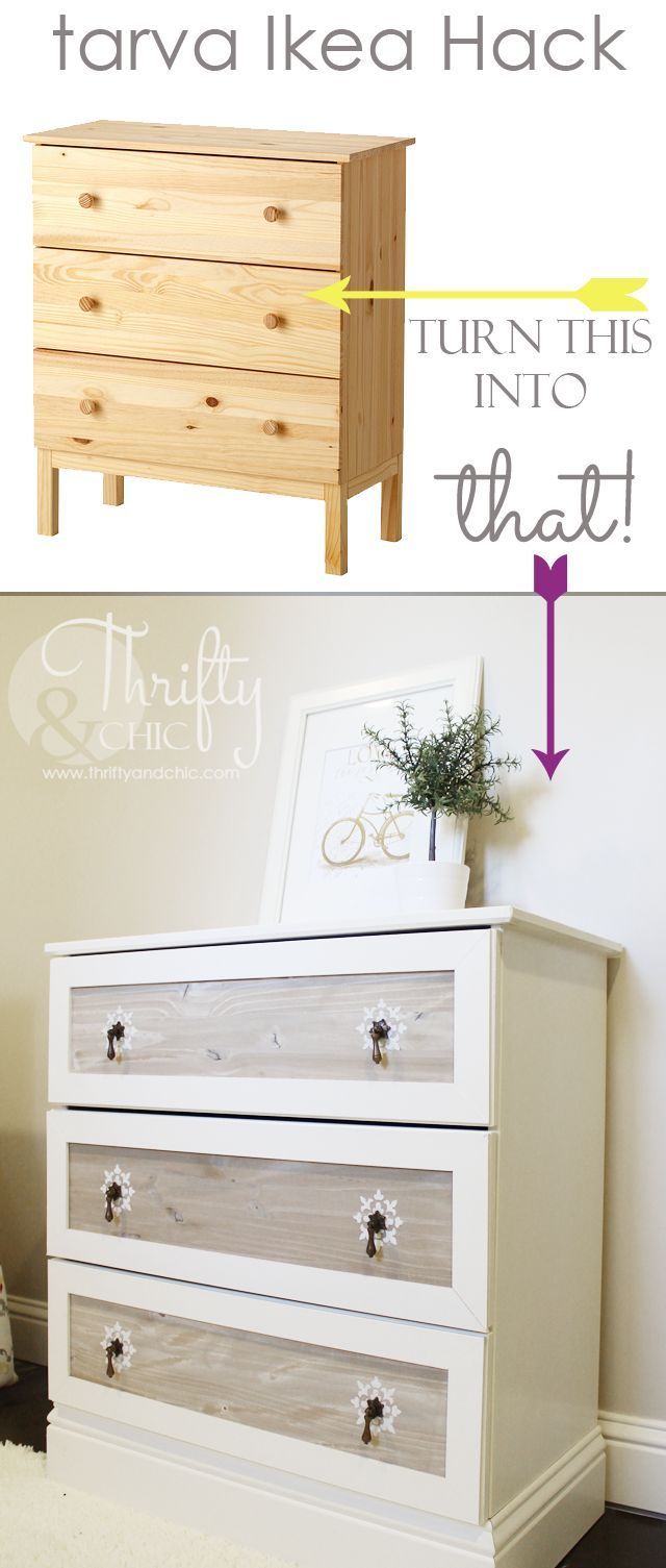 25 gorgeous ways to prettify an old boring dresser Ikea furniture makeover