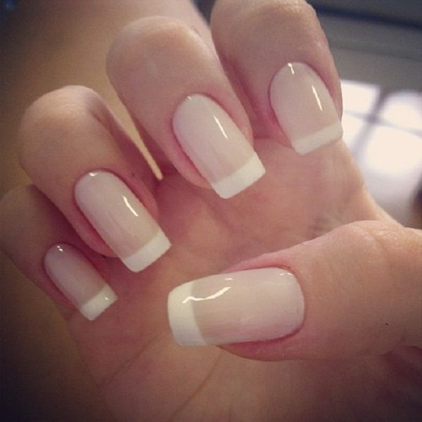 French Manicures Ideas 2015. Light pink base rather than ...