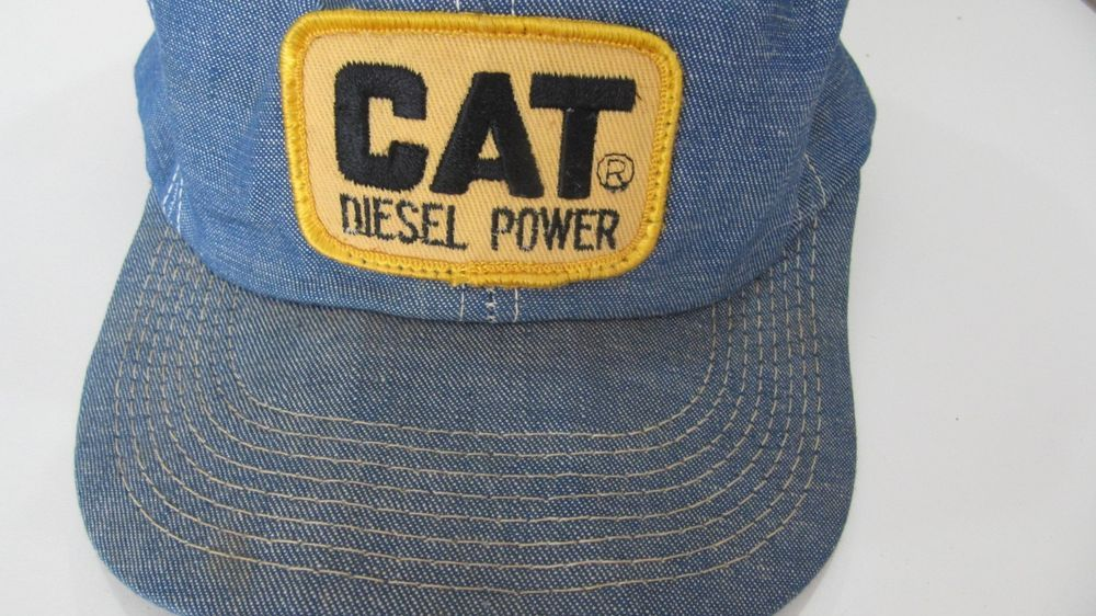 Denim truck hat CAT Diesel Power patch snap back K Brand