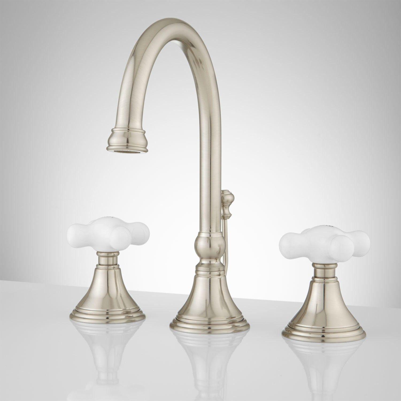 melanie widespread gooseneck bathroom faucet - large