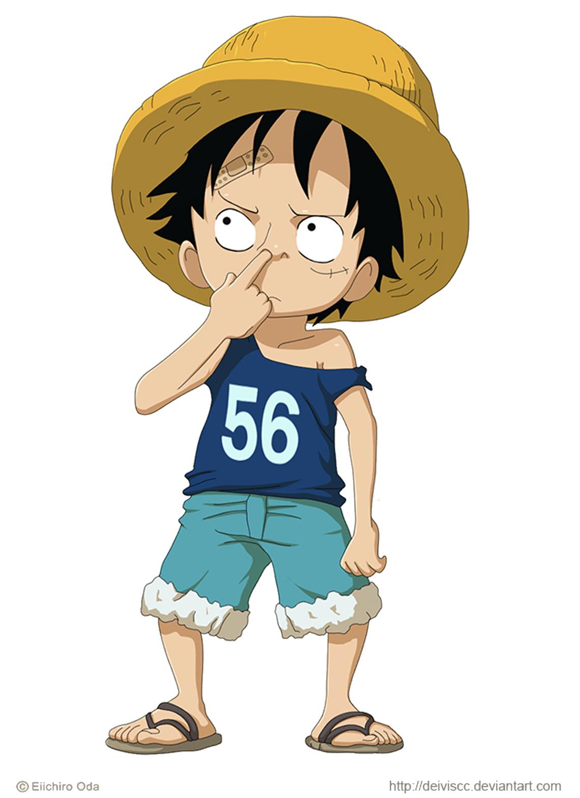 Monkey D Luffy Kid 2 Ilustrasi Karakter Ilustrasi Komik Gambar Karakter