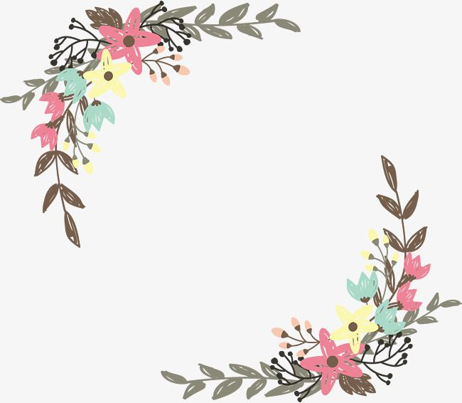 Hand Painted Graffiti Wild Flower Borders Vector Png Hand Painted