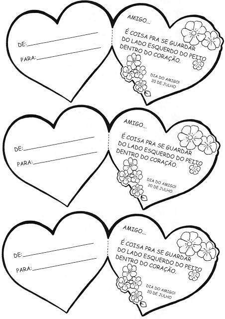 Cartoes Dia Do Amigo Dia Do Amigo Cartao Para Amiga Atividades
