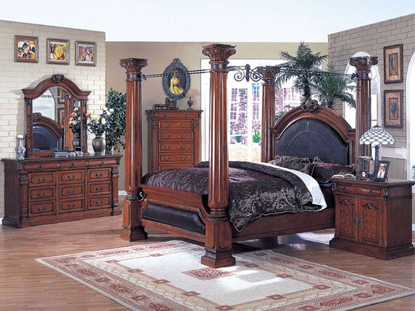 Canopy Bedroom Sets, Wood