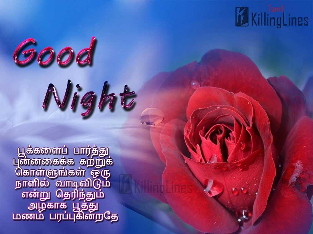 Tamil Nice Good Night Greetings Images With Nice Inspiring Tamil