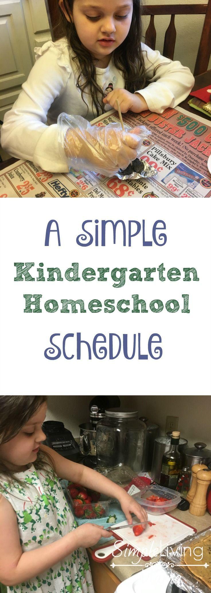 A Simple Kindergarten Homeschool Schedule Kindergarten