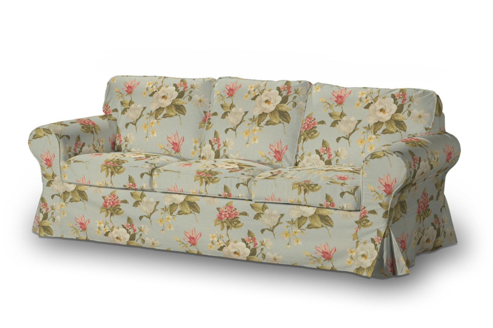 Ektorp 3 Seater Sofa Cover Large Red Yellow And Off White  ~ Light Blue Sofa Slipcovers