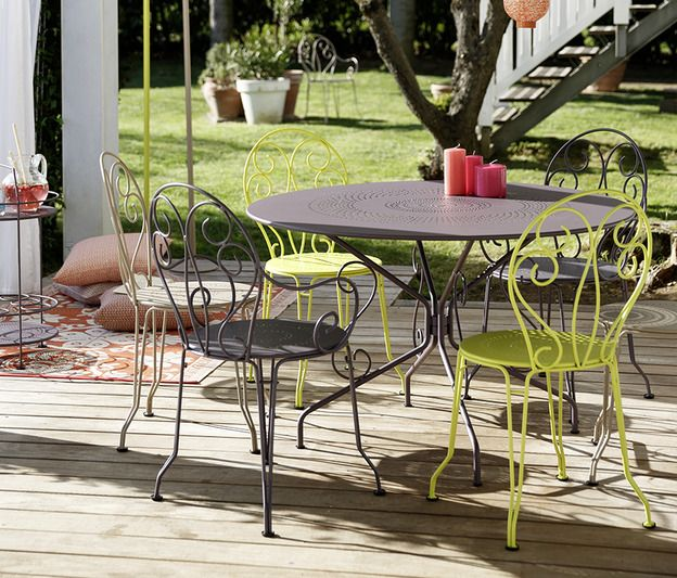 Table ronde 117 cm Montmartre, table de jardin en métal en 2019 ...