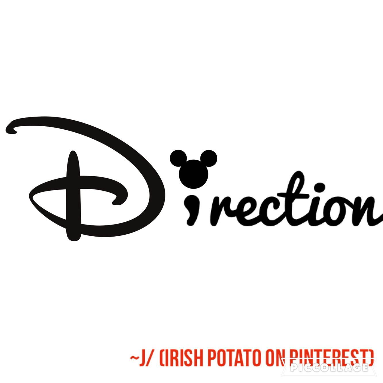 Disney tattoo, semi colon tattoo, one direction tattoo, free tattoo template (Irish potato on Pinterest)