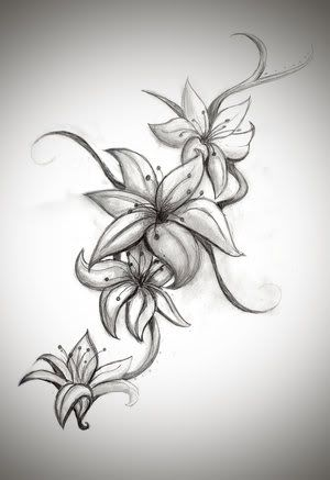 emo tattoo designs l this is beautiful ink ness pinterest rh pinterest co uk Black and White Lily Tattoos On Thigh Black and White Lily Tattoo Shoulder