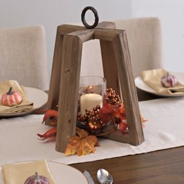 Rustic Harvest Wooden Lantern Fall decor and Craft