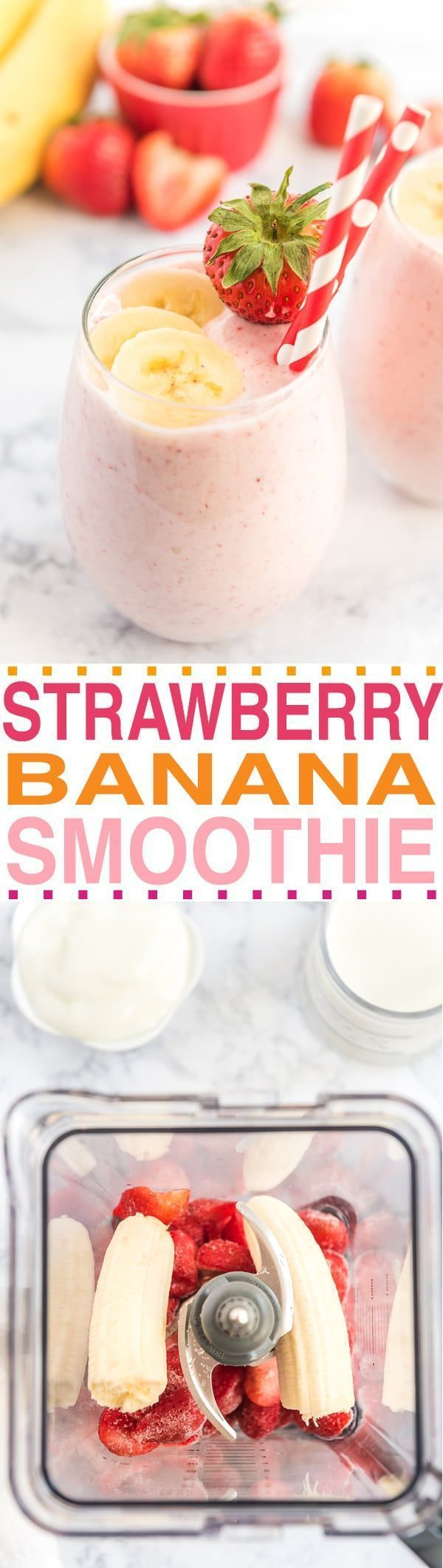 THE BEST STRAWBERRY BANANA SMOOTHIE RECIPE #smoothies #breakfast #healthy #strawberrybananasmoothie THE BEST STRAWBERRY BANANA SMOOTHIE RECIPE #smoothies #breakfast #healthy #strawberrybananasmoothie