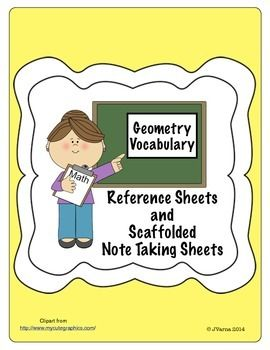 Geometry Definitions/Reference Sheet  On Sale 20% off Nov 30, Dec 1, Dec 2.