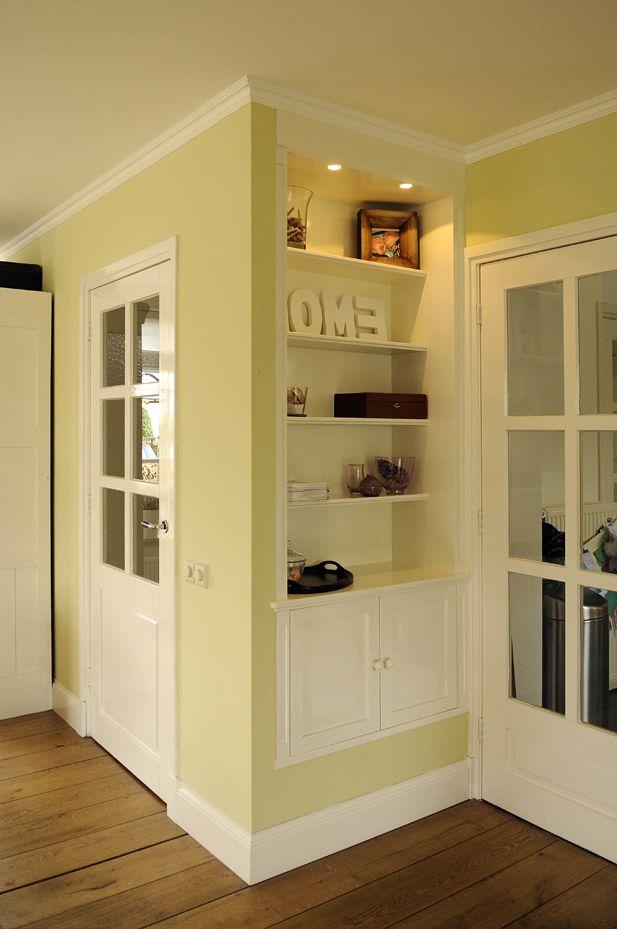 Inbouwkasten in klassieke stijl kast inbouwkasten en ingebouwde kast - Studio stijl glazen partitie ...