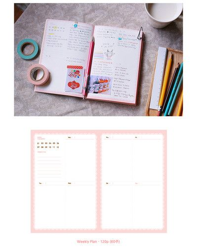 Un Dated Petit Cochonn Diary Weekly Schedule Planner Journal