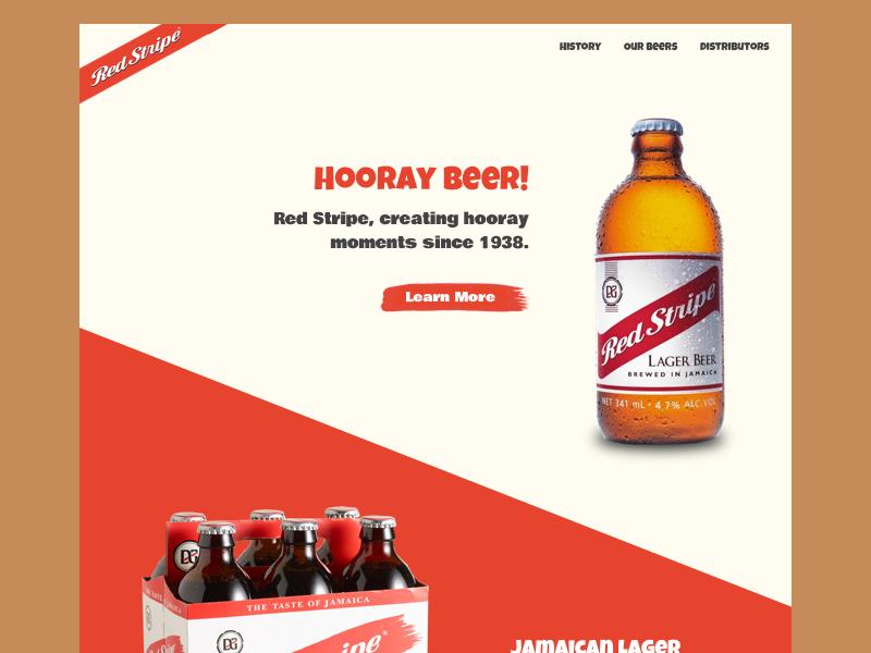 Day 003 Red Stripe Landing Page Web Design Tips Web Development Design Landing Page