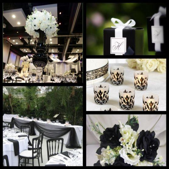 Monochrome Wedding Theme Wedding Pinterest