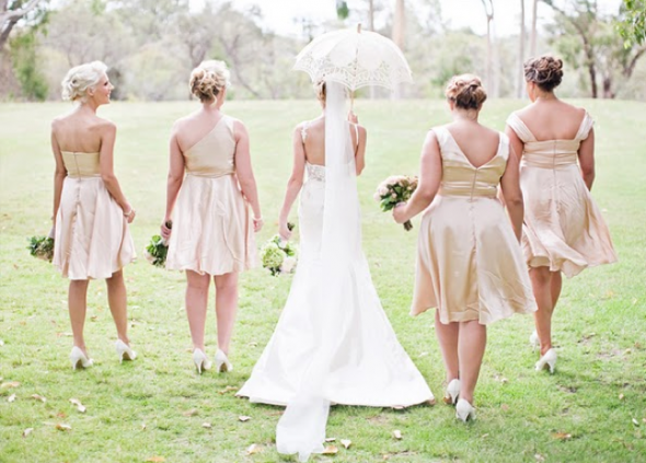 What Color Heels W Champagne Bridesmaid Dress For Our Classy Nautical Wedding