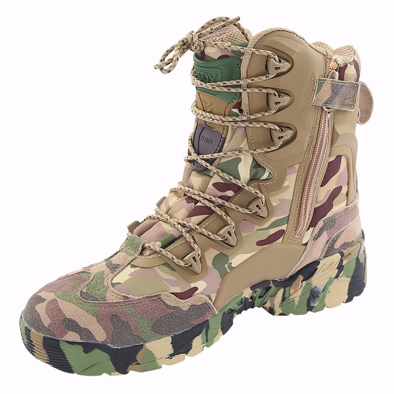 Boots Army Tactical Military Combat Work Hiking Shoes Mens Size Waterproof Camo