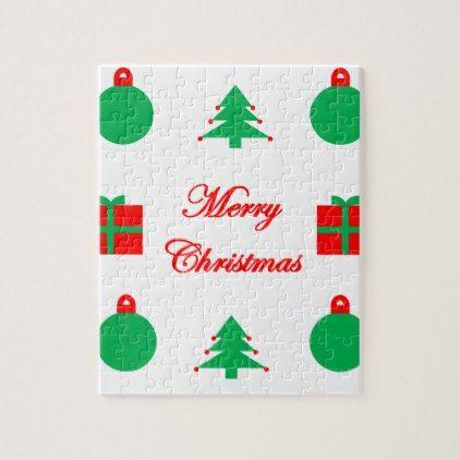 Merry Christmas Design Jigsaw Puzzle - merry christmas diy xmas