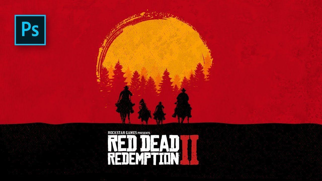 Cara Membuat Desain Poster Red Dead Redamtion 2 Photoshop