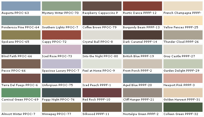 Home Depot Interior Paint Color Chart Impressive Inspiration