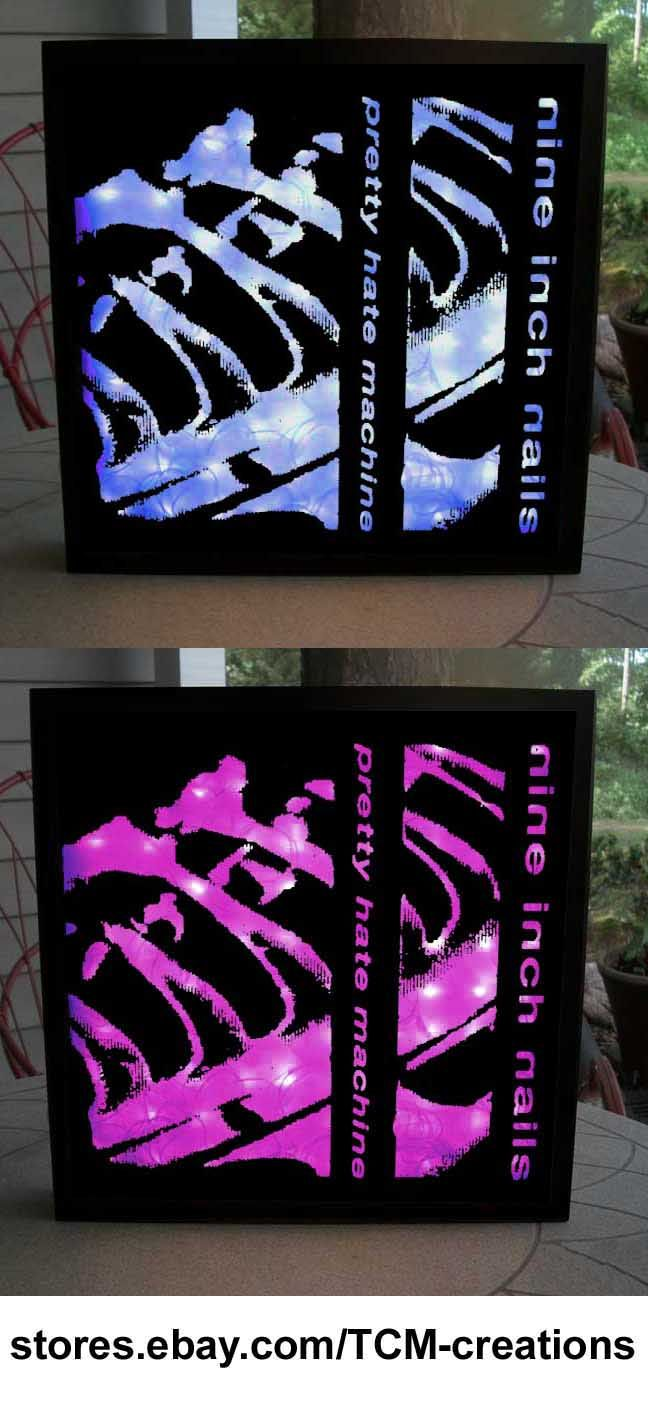 Nine Inch Nails shadow boxes with LED lighting. Pretty Hate Machine ...