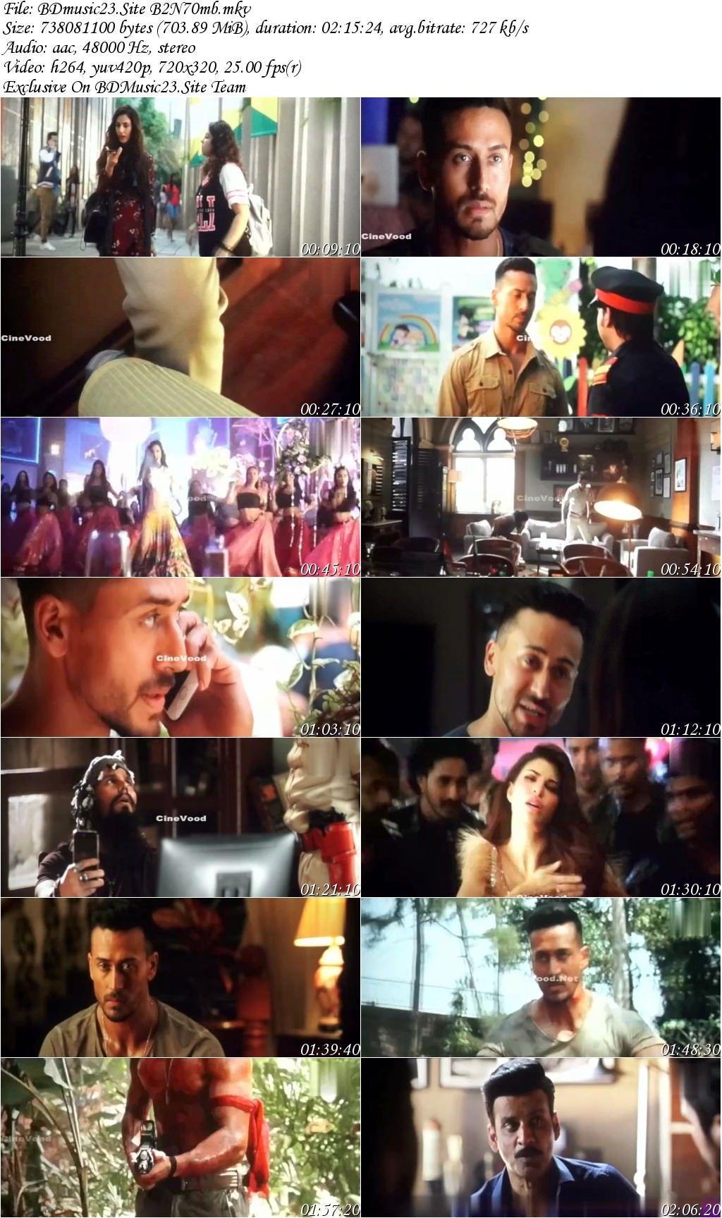 Baaghi 2 2018 Hindi 1CD Audio Cleaned PreDvDRip 700MB